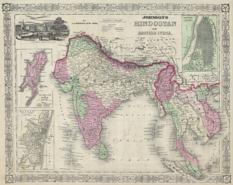 13.10 1864_Johnson's_Map_of_India